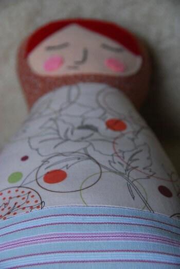 Wool  Filled Matryoshka Doll -  Ariadna
