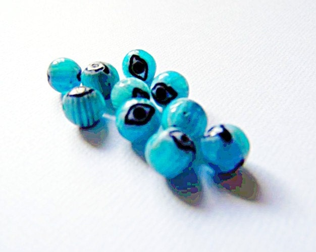 The Glass Eye - 8mm Round - Turquoise - 10 count