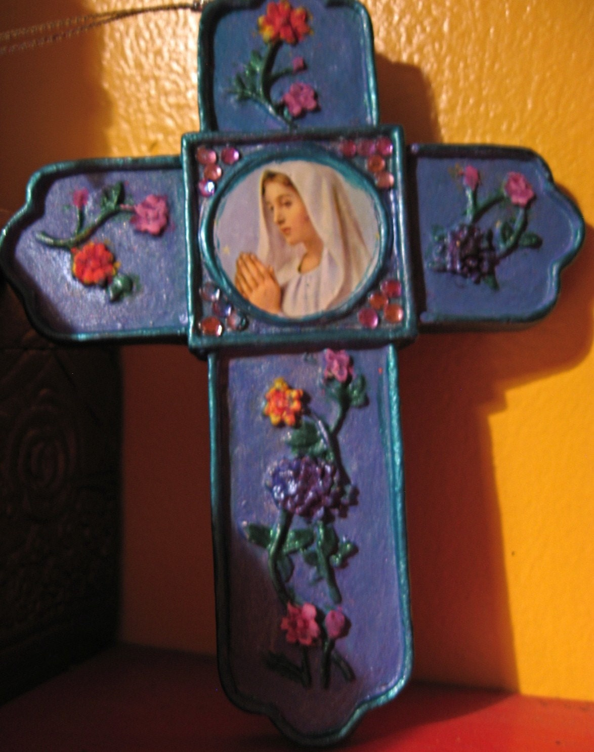 Mary of the Flowers Cross