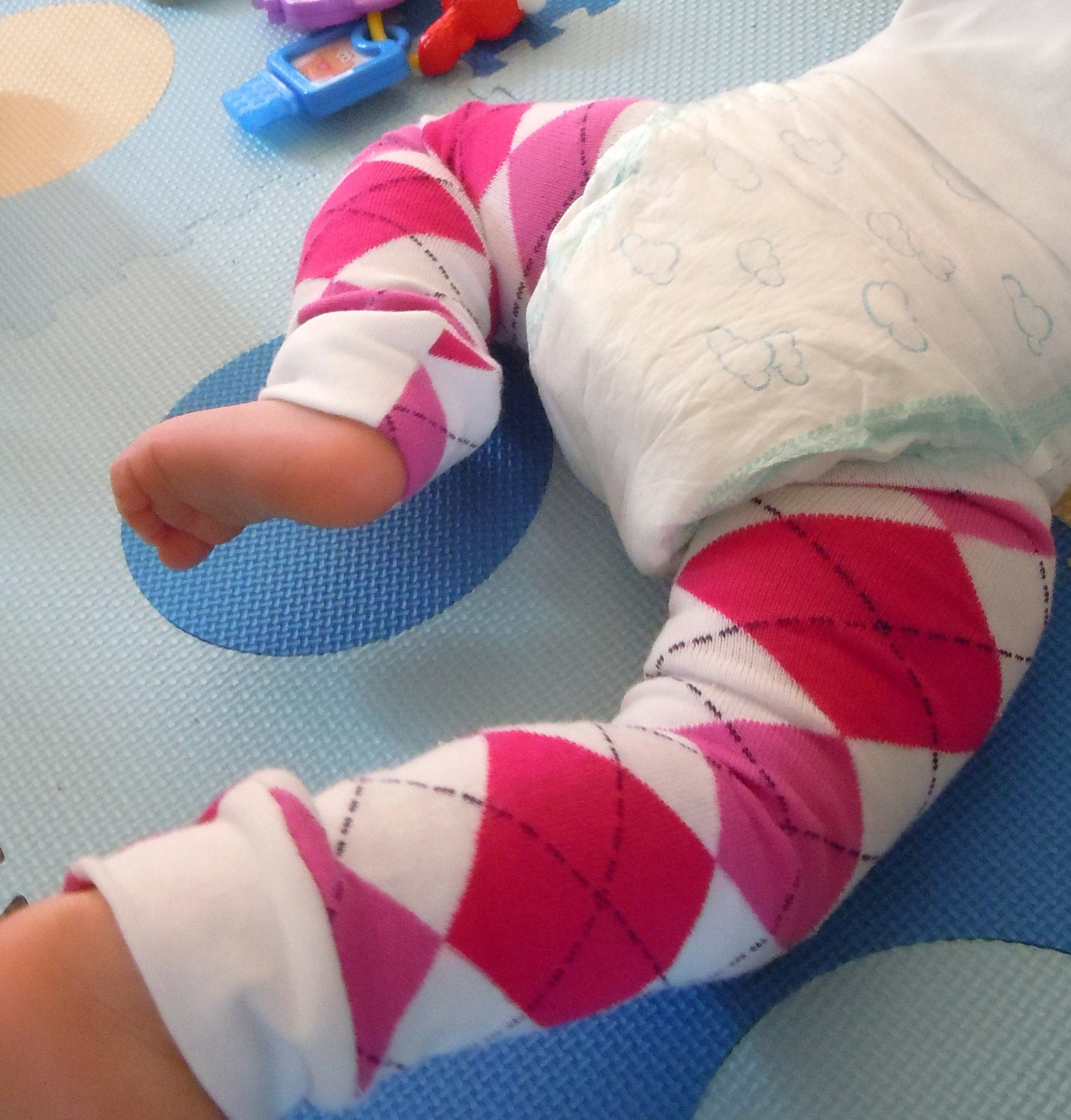 Babypantz Baby Toddler Legwarmers Covers Boy Girl Pink Argyle
