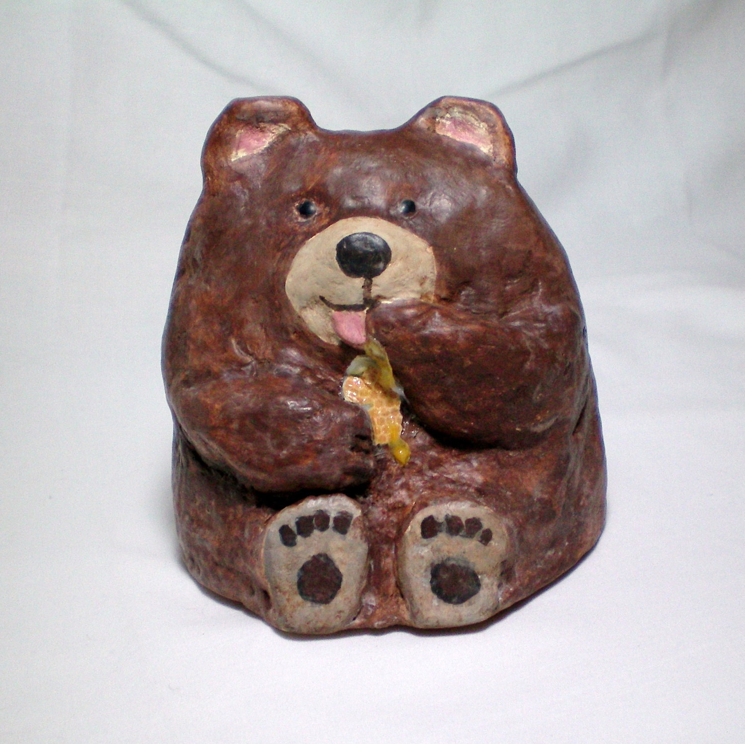 Paper Mache Baby Bear by CraveCute on Etsy