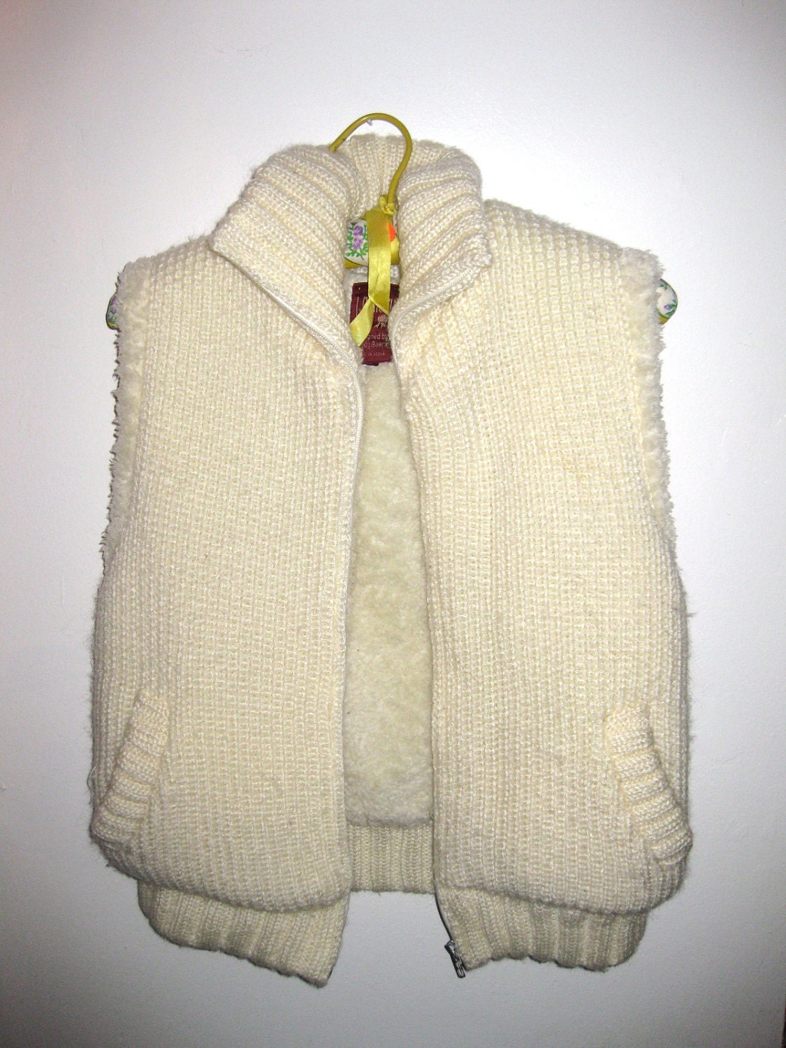 J. Gallery Cream Sleeveless Sweater vest Designed by Trudy Beers