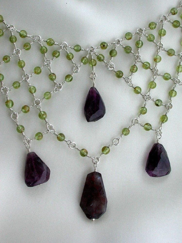 designs by victoria necklace peridot and amethyst fabulous