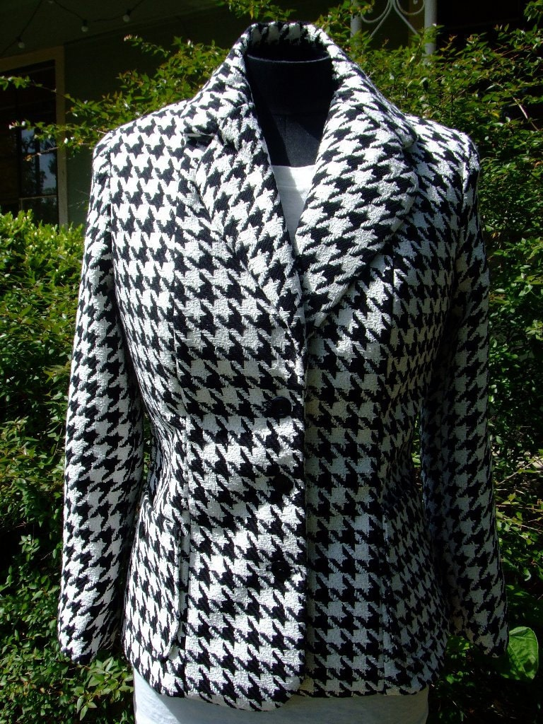 1940's style Womens Houndstooth Suit Jacket