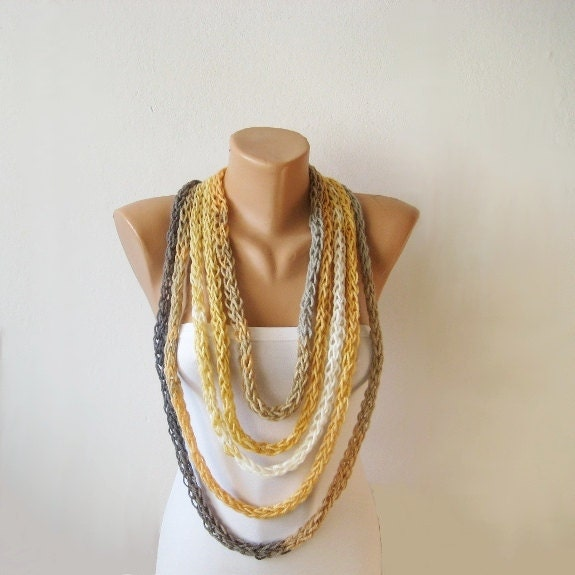 endless rope scarf autumn infinity loop necklace earth by