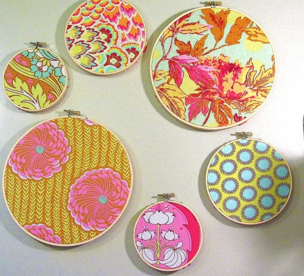 Add on embroidery hoop decor made to match by