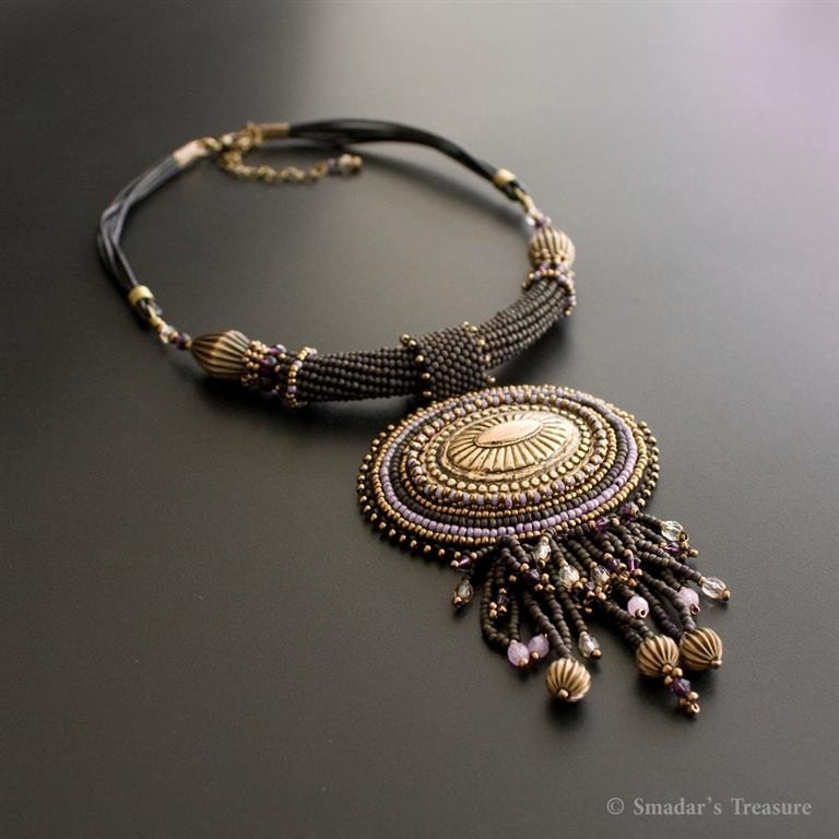 Bold Black and Bronze Necklace