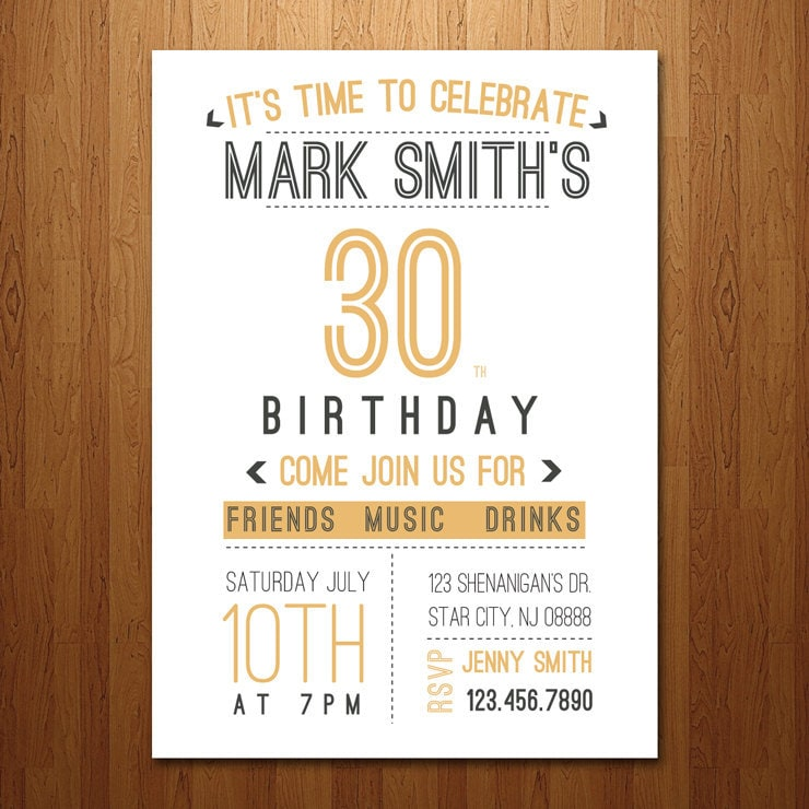 30Th Invite Wording for nice invitations design