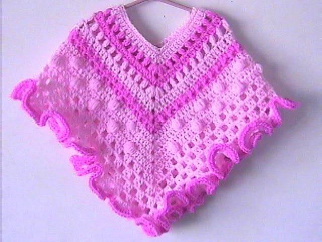 Poncho a crochet bebe - Imagui