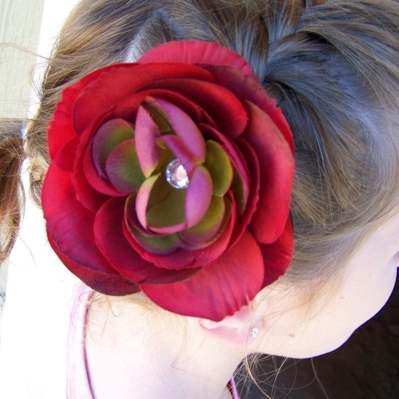 Stunning Burgundy Flower - 3 inches