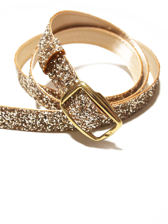 gold glitter dress belt by alexandrakingdesign on etsy