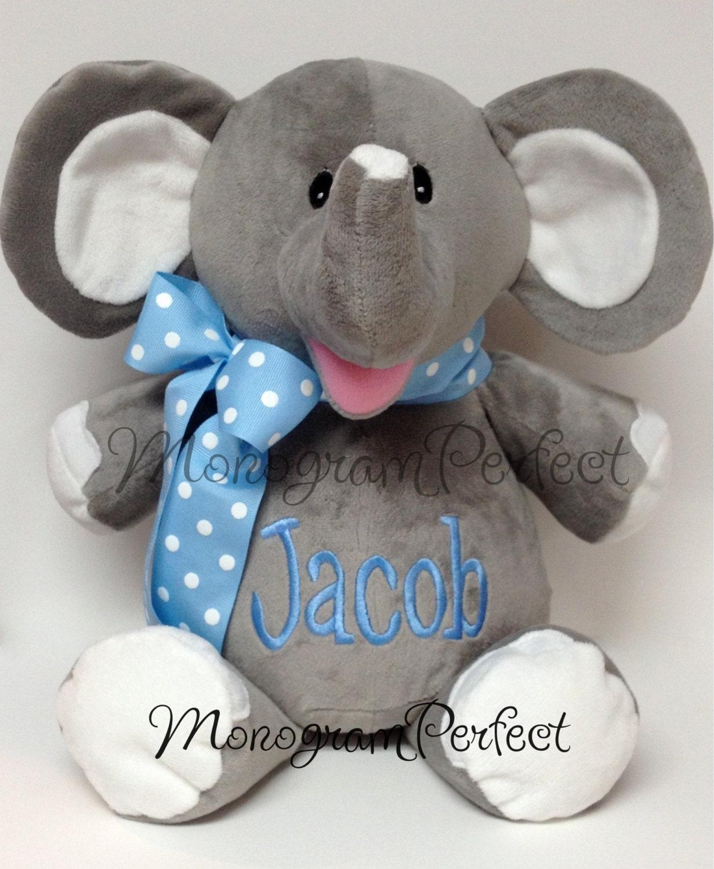 Personalized quot plush elephant stuffed animal