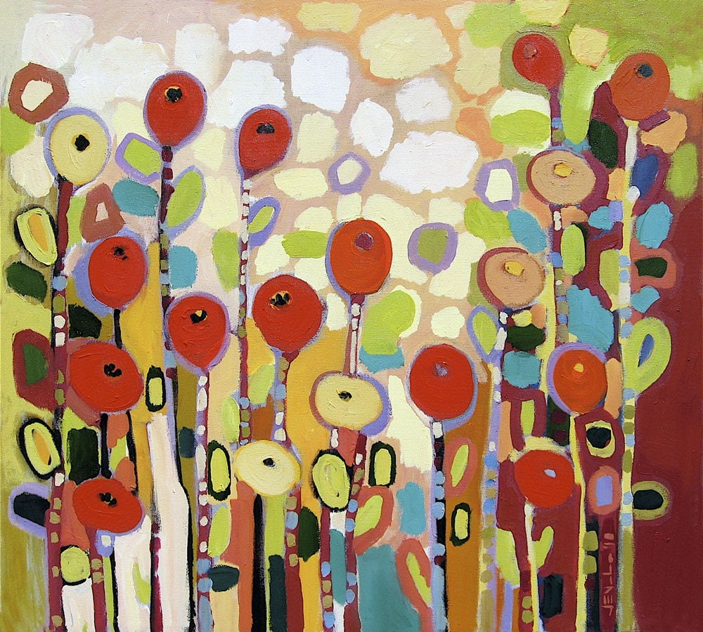 LARGE Original Painting 36x40 - Growing in the Valley No 11
