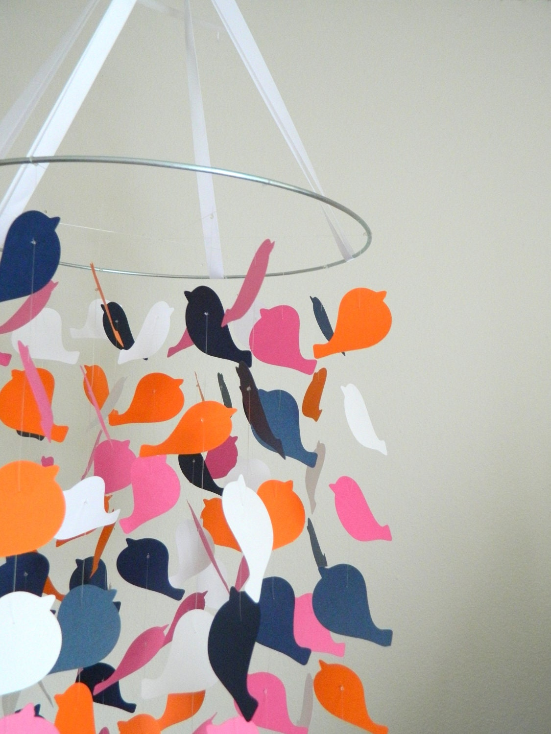 The swan soiree bird mobile diy kit nursery by for Bird mobiles for nursery