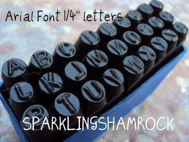 Unavailable listing on etsy for Metal letter stamps for jewelry