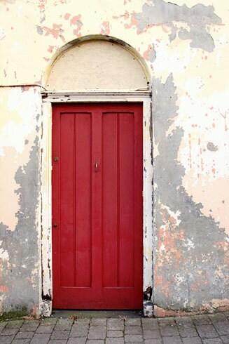 Red Door Photograph Ireland Door Rustic Alley By