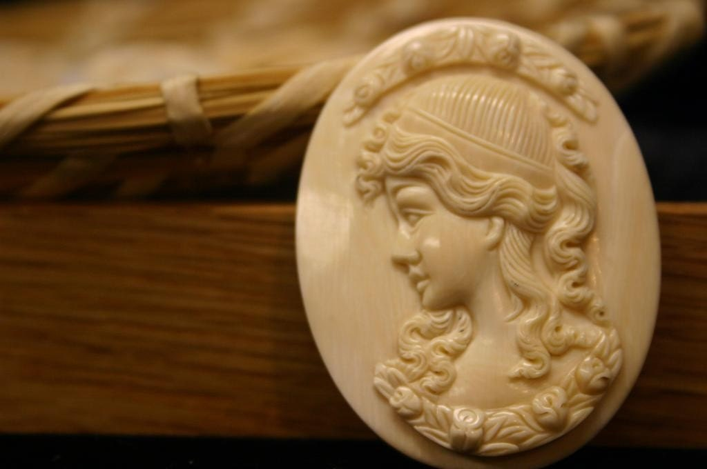 Mammoth Ivory Cameo - Large