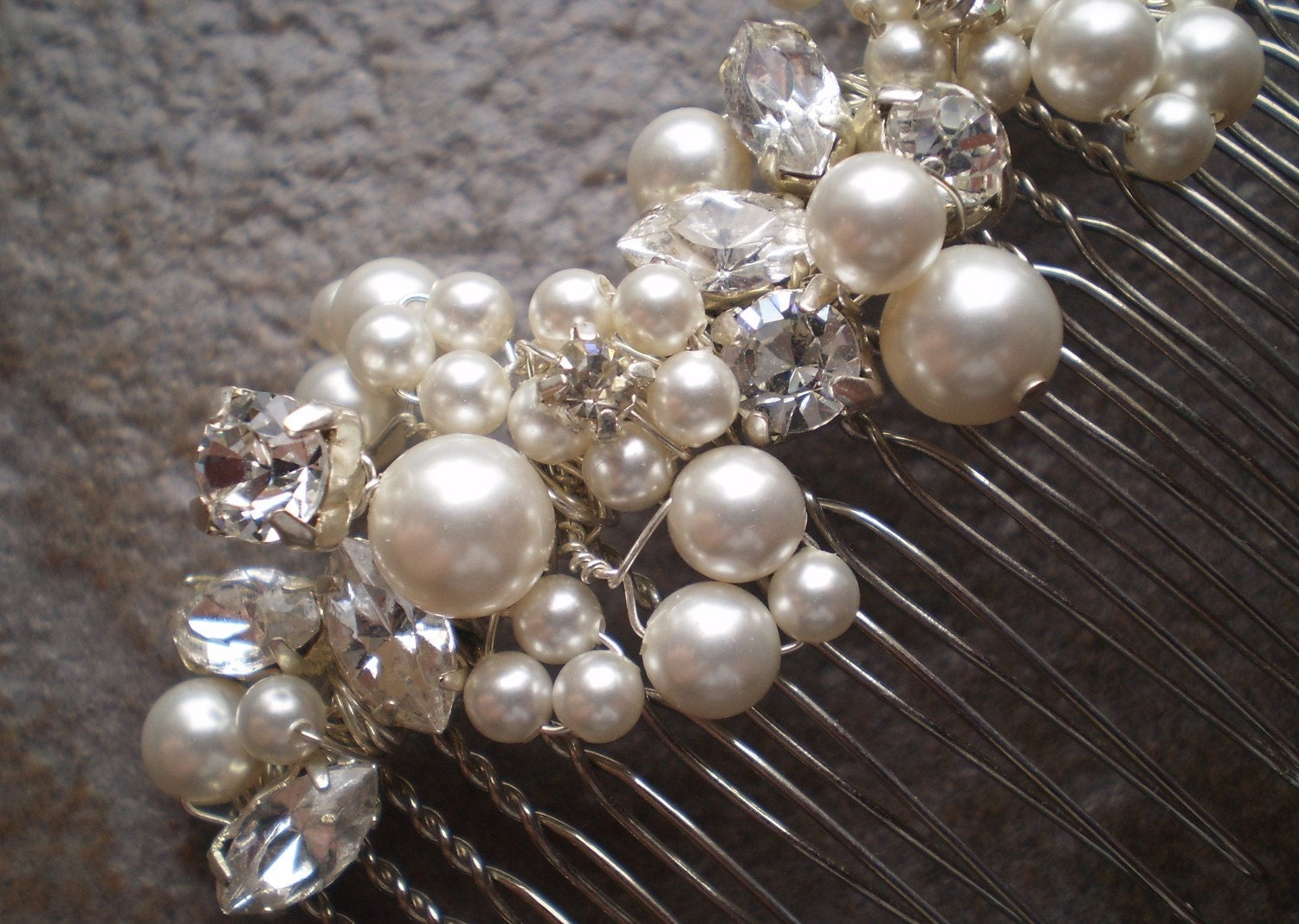 Looking for beautiful handmade jewelry and bridal hair accessories? :  wedding etsy jewelry hair accessories comb pearl diamante crystal ivory gifts gold white silver bridesmaids Il 570xN.185105848.jpg
