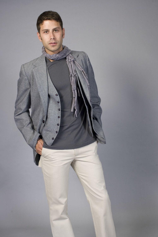 mens light grey pants - Pi Pants