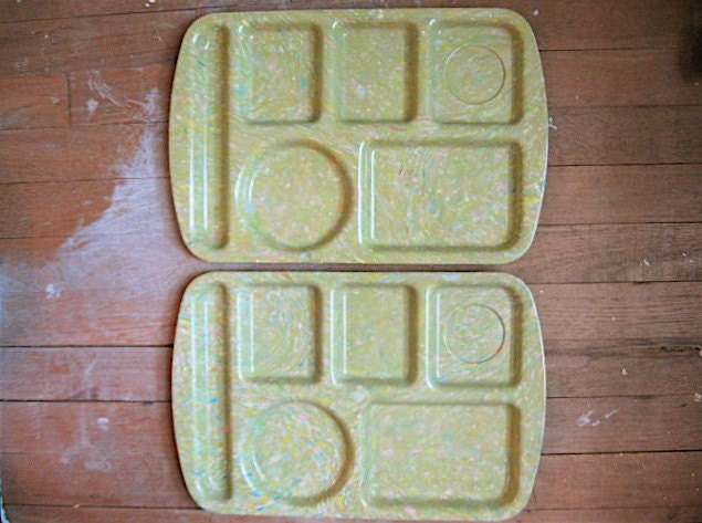 Melmac Lunch Trays Prolon Source Etsy