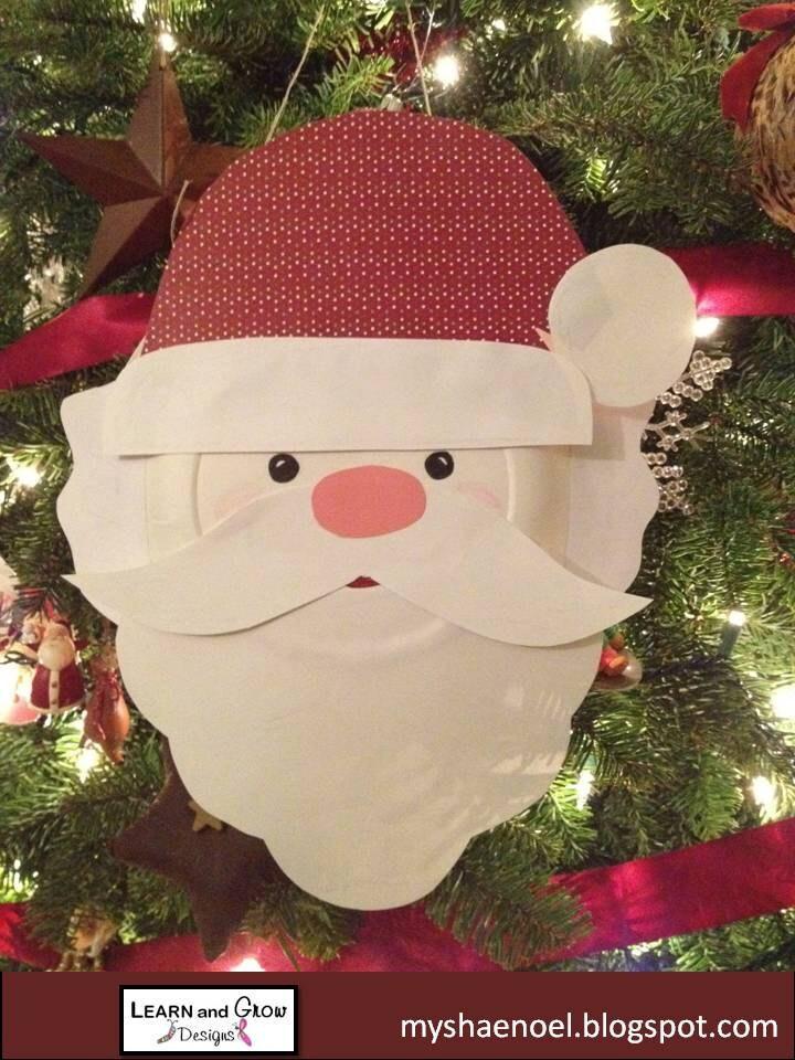 Santa Paper Plate Craft Kit for Children - LearnandGrow