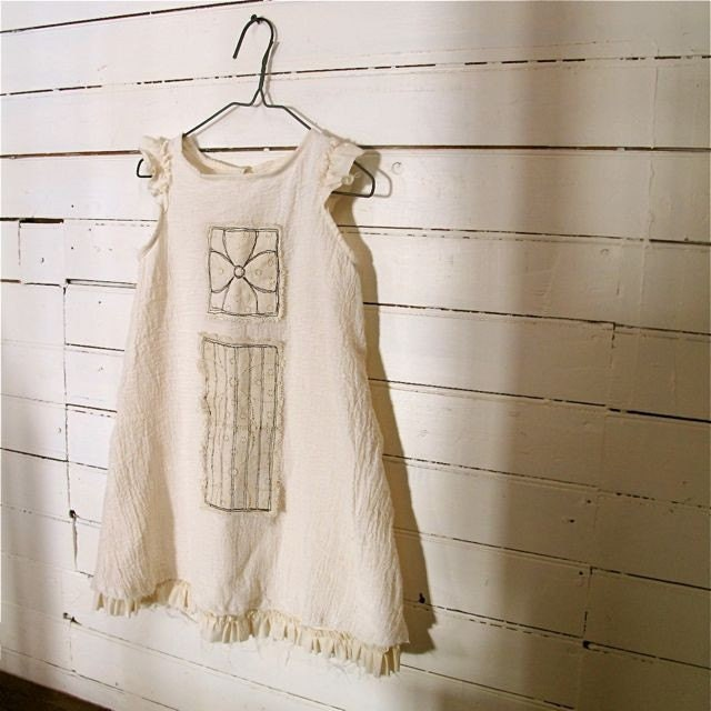 The Tra La La Dress in Cream Gauze sz 4T