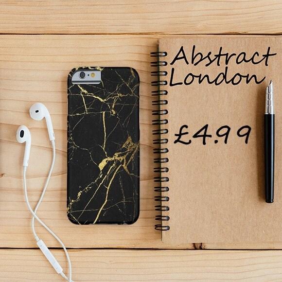 Black Marble iPhone 6 Case iPhone 6s Case iPhone 6 Plus 6s Plus iPhone 7 7 Plus  iPhone 5 5s SE Case Samsung Galaxy S6 S6 Edge S7 S7 Edge