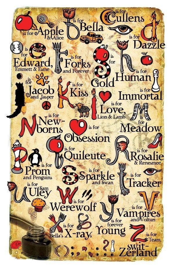 Twilight Alphabet Poster 11x17