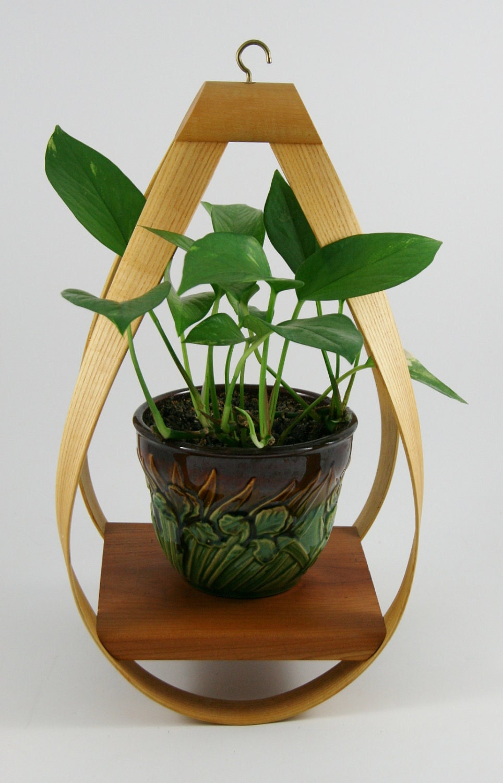 Danish Modern Bent Wood Hanging Planter by YourWheelhouse on Etsy