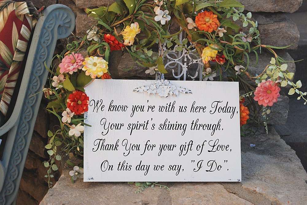 Wedding Memorial Table Ideas