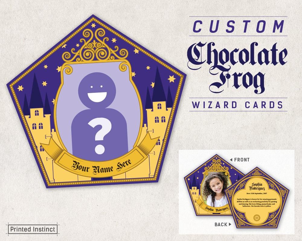 Similiar harry potter chocolate frog printables keywords harry potter party custom printable chocolate frog cards maxwellsz