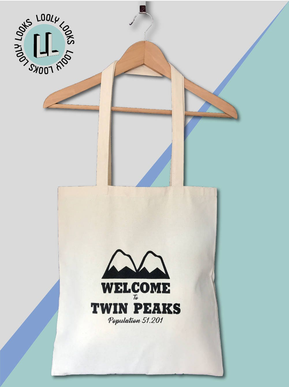 Twin Peaks Welcome to Twin Peaks Screen Printed Tote Bag