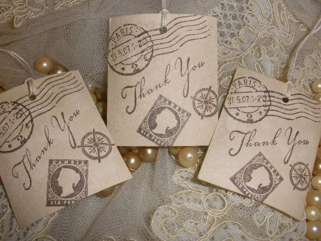 Travel Inspired Vintage Tags. Set of 10.