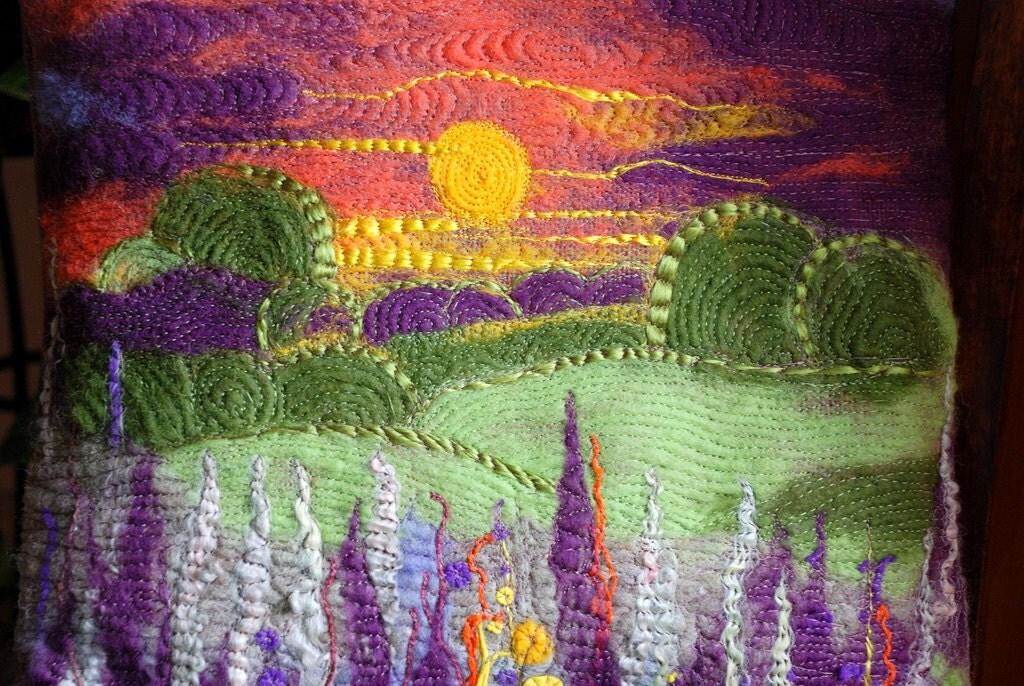 Уникальная крышка подушки (Sunset - игла войлочных искусства) 16
