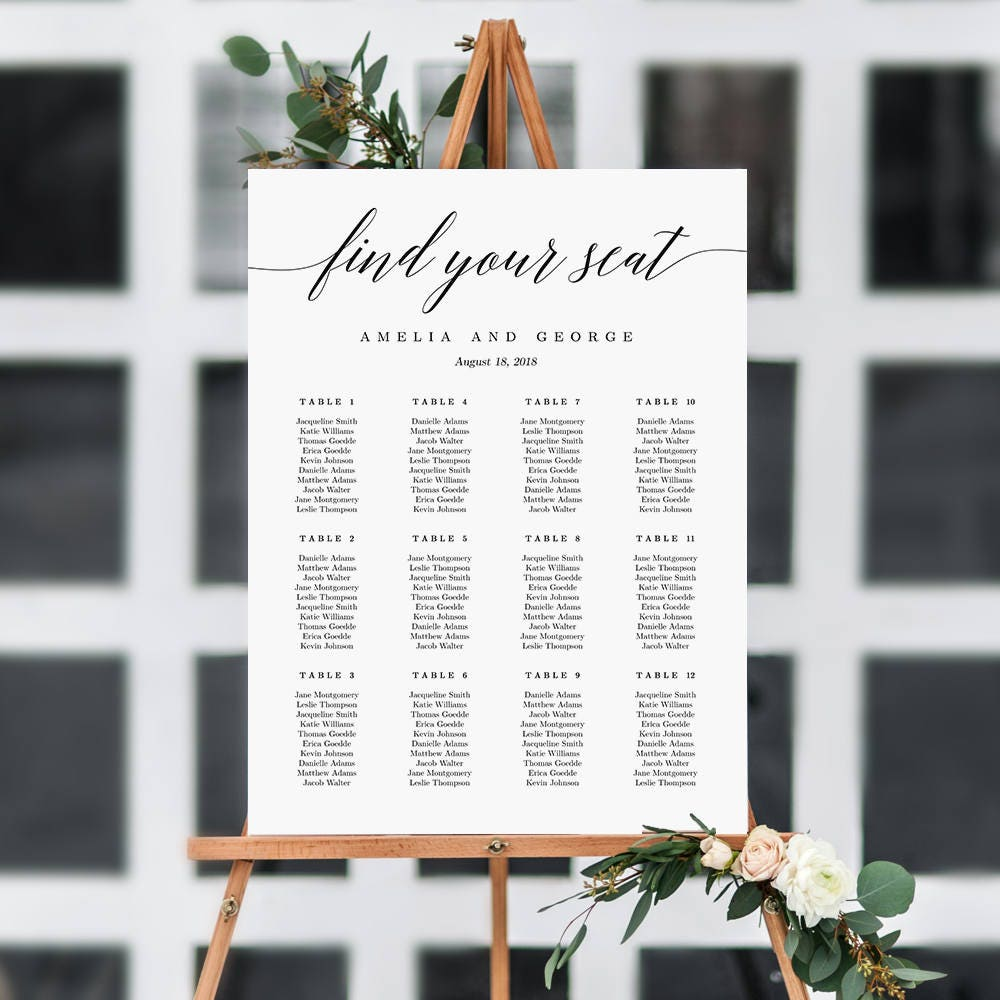 Free wedding poster template
