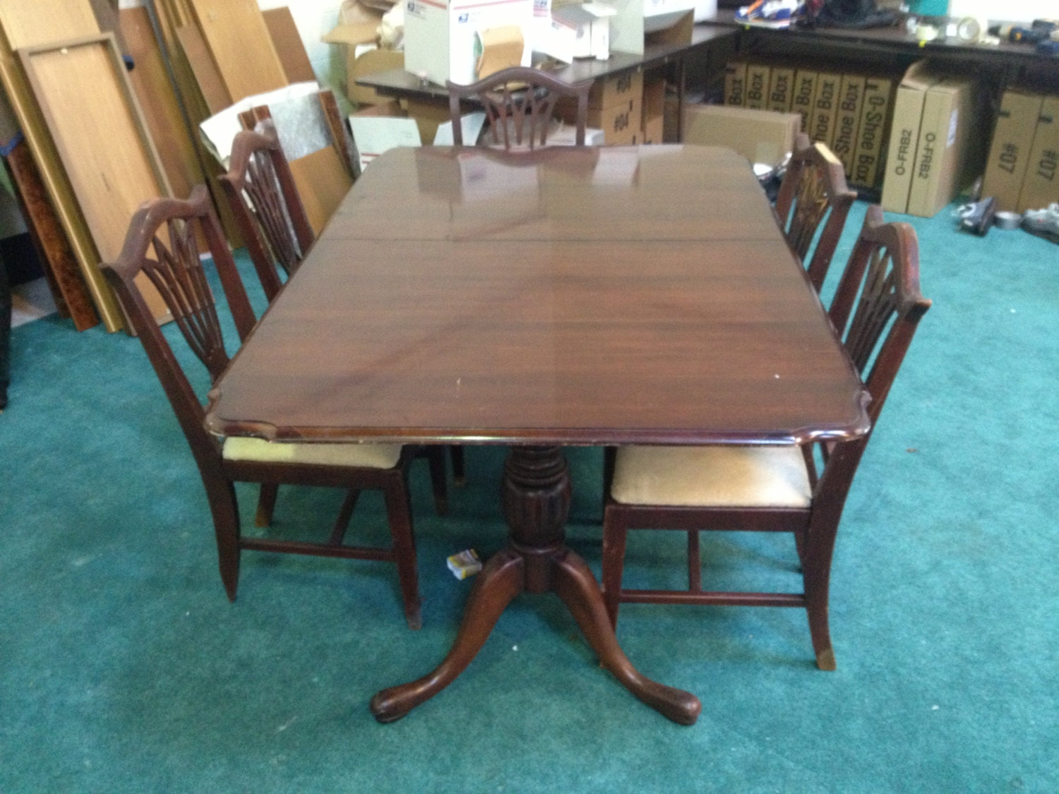 Items Similar To Walter Of Wabash Dining Room Table W Chairs On Etsy