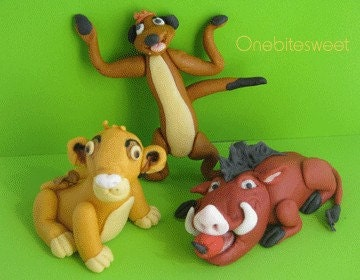 Edible Cake Images Lion King : Items similar to Edible 3D Lion King cake toppers on Etsy