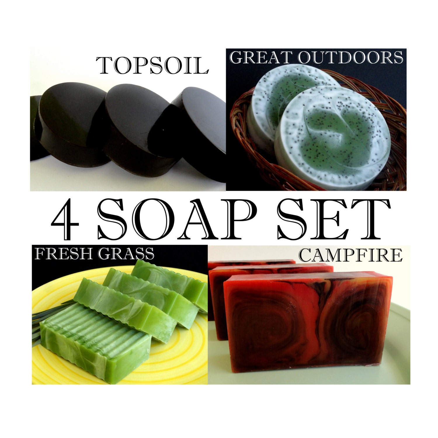 Christmas gift for men manly soap set by
