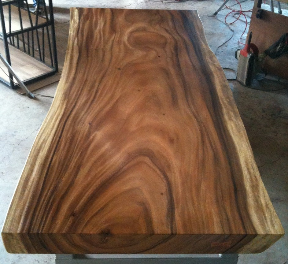 Live Edge Dining Table Acacia Wood Live Edge Reclaimed By
