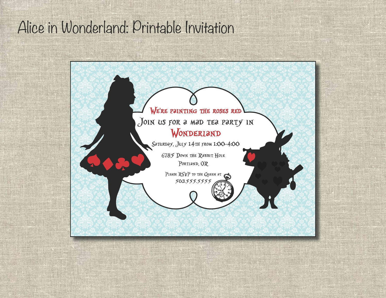 Alice In Onederland Invitations for amazing invitations example