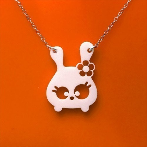Tumsy the bunny necklace by Mariska on Etsy from etsy.com