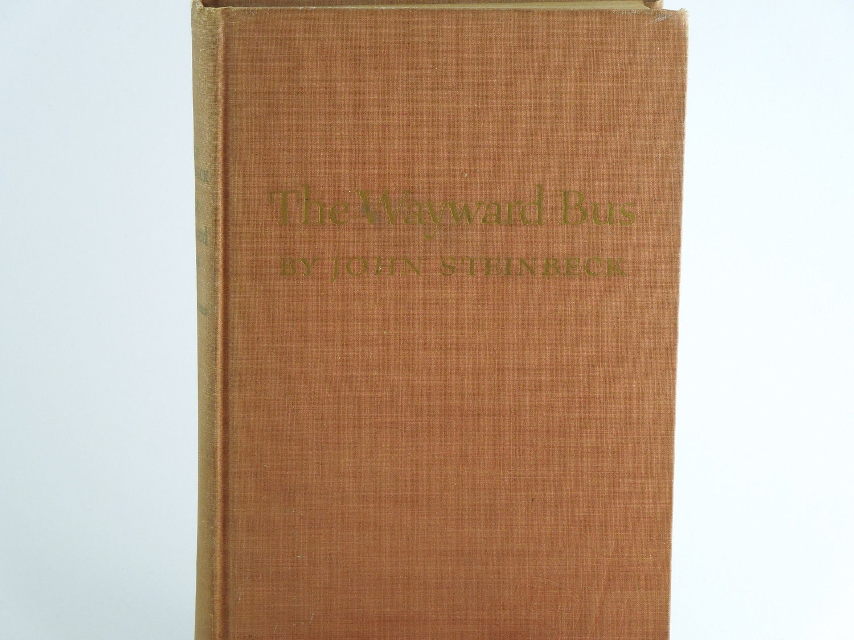 "John Steinbeck ""The Wayward Bus"" VintageHardback Book-1st Edition Hardback-Father's Day Gift-Rare book - Moonlightdecorator"