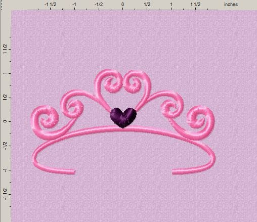 Princess Crown Embroidery Design by EmbroideryDownloads on ...