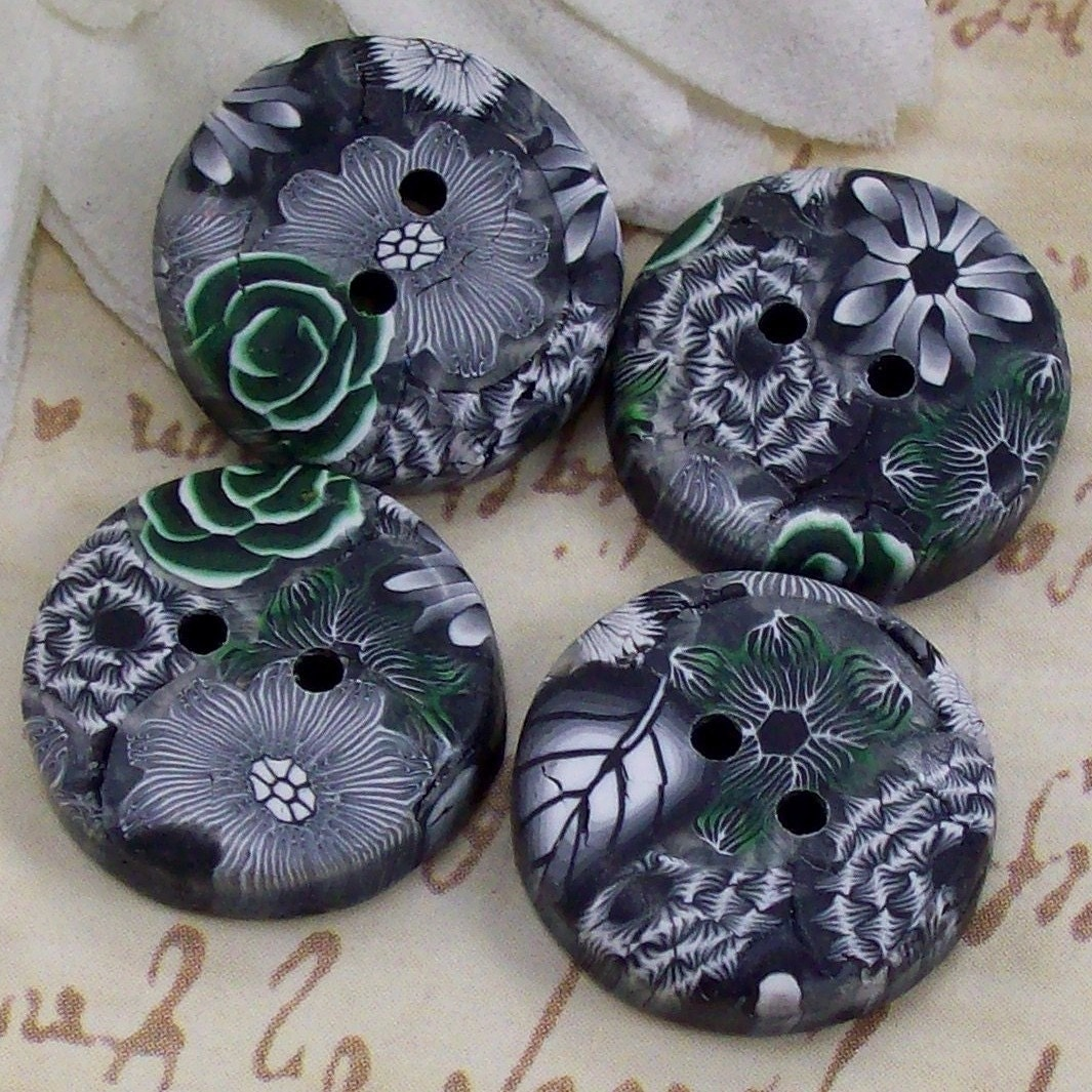 Handmade Polymer Clay Buttons, by CAG