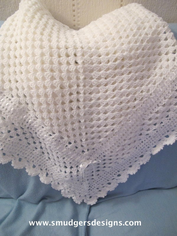 Crochet Shawl Patterns For Babies : Baby Crochet Shawl Pattern No 80 by julielaw1 on Etsy