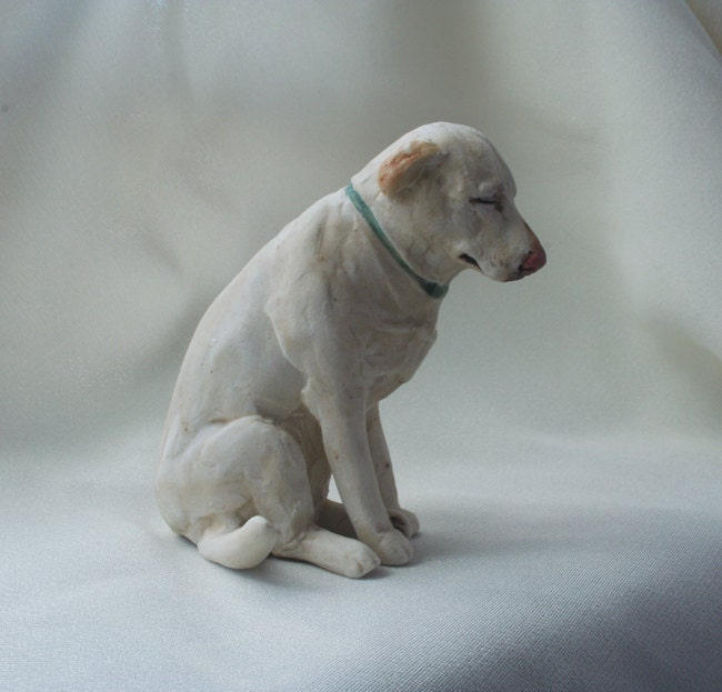 Denver The Guilty Dog Sculpture Yellow Lab Miniature By