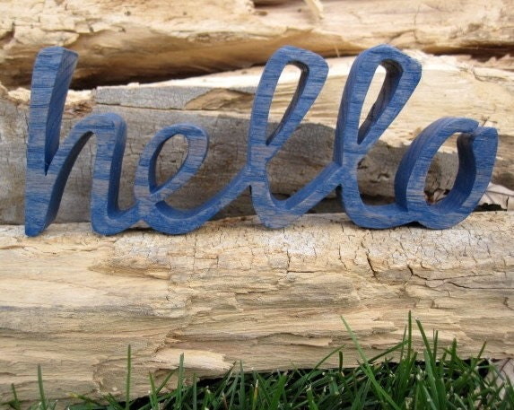 Hello - wooden word