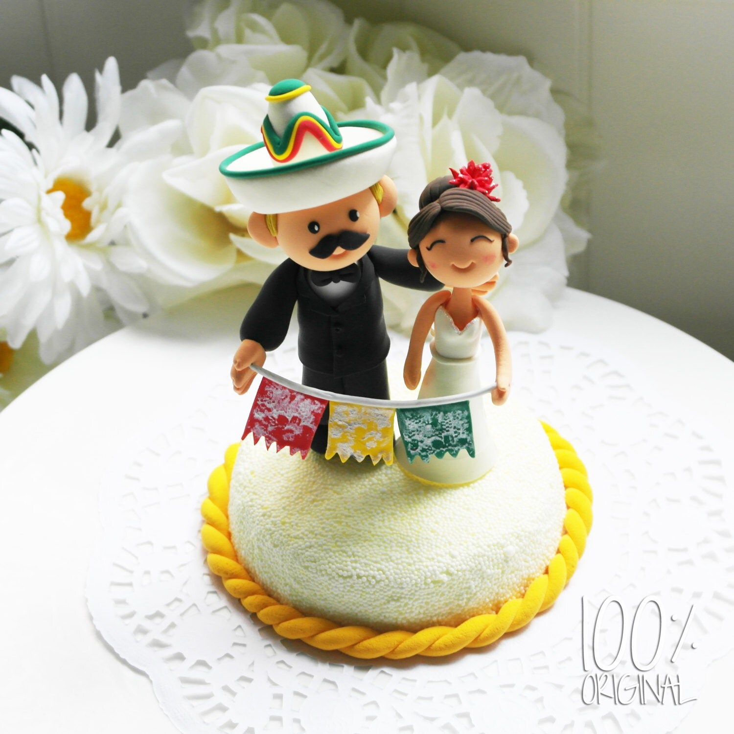 Custom Cake Topper Mexican Fiesta Theme by TheRosemarryToppers