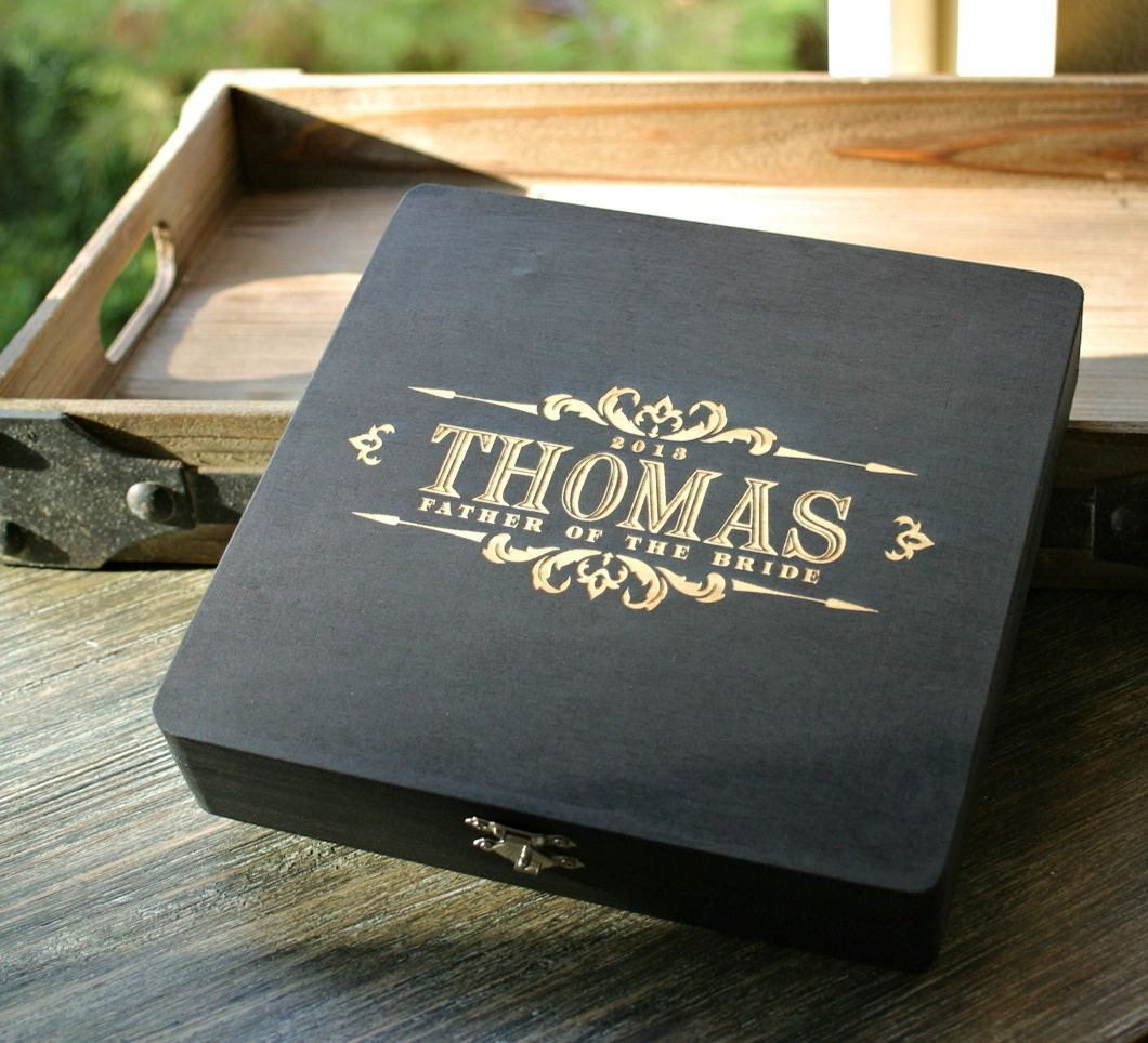 Best man gift engraved watch box valet by scissormill on etsy for Men s valet box