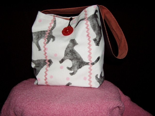 Tote/ Original Cat Print Fabric